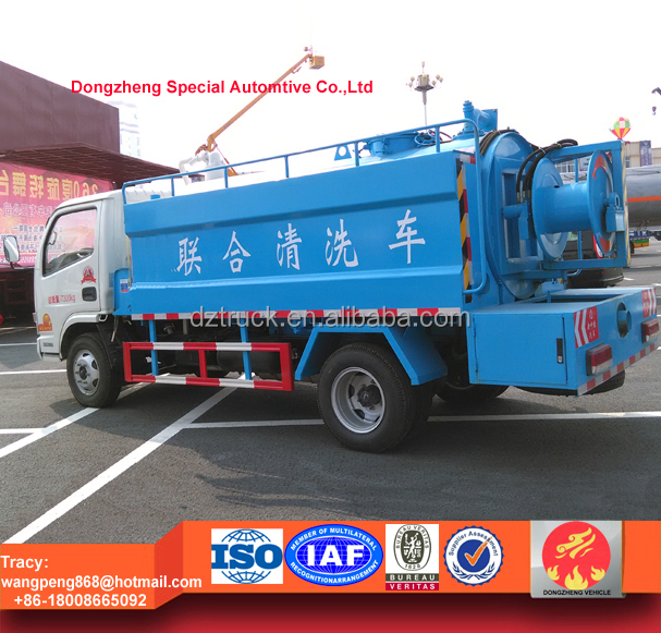 5000L multifunction flushing truck, sewer jetting truck for sale