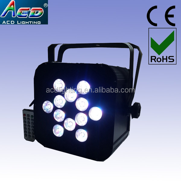 HOT 12*15w 5in1 rgbwa battery power & wireless dmx led par battery power led lights,wireless battery powered led par