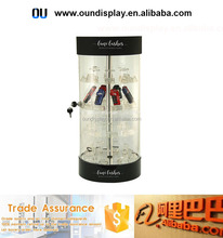 acrylic locking cctv camera display showcase electric rotating lighter display stand
