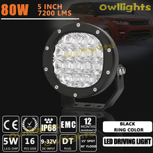 Super Brightness High Quality boat accessories 5inch 80w offroad led light 80w car led headlight for SUV ATV UTV