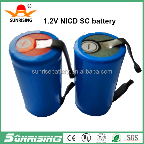 High Temperature nicd sc 1200mah 1.2v battery / ni-cd sc 1700mah rechargeable battery 1.2v /ni-cd sc1300mah