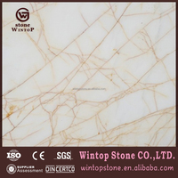 MS0483 Luxury Greece Import Golden Spider Marble Slab Tile Gold White Marble