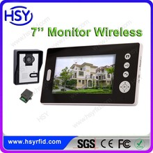 7inch color wireless video door phone system for video intercom