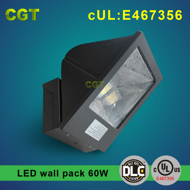 outdoor wall mounted led light 60w with Meanwell driver UL DLC approved 5 years warranty