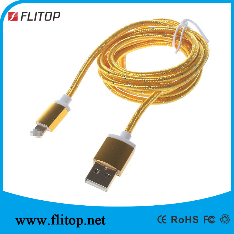 Gold-plated USB Data Fast Cable SYNC and Charge for Ligntning Apple Iphone 6