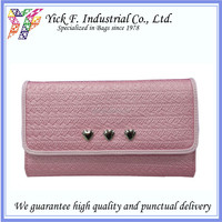 Organizable Pinky Cutie PU Leather Women Ladies Long Wallet