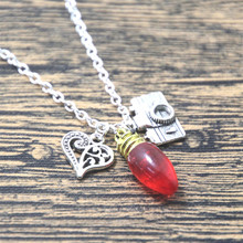 Jonathan Byers inspired Stranger Things charm Necklace jewelry silver tone