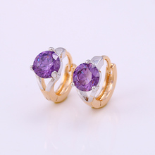 25279 latest fashion round colored single stone earring designs