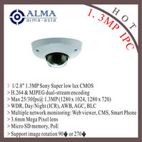 "1/2.8"" 1.3MP SONY CMOS; H.264; 3.6mm mega pixel lens; 30fps@1.3MP; POE"