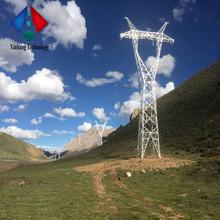 transmission self supporting lattice electric power line tower 220kv double circuit steel pole