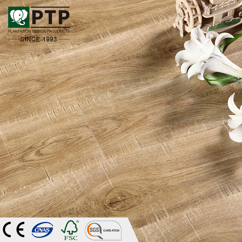 PTP 187 Piso de madera home depot NI E1 ac3 wood laminate flooring 12mm