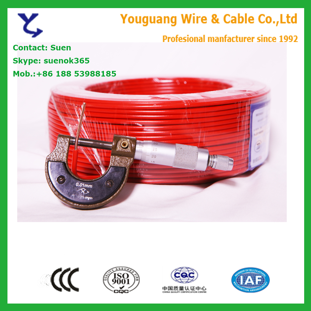 Hot sale! Made in YouGuang 1.5mm2 2.5mm2 4mm2 6mm2 10mm2 house wiring cables
