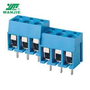5mm 2 pin connector pitch panel mount pcb terminal block(WJ305-5.0)