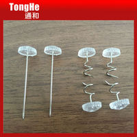 Clear Head Decorative Twist Pin for Furniture Accessories