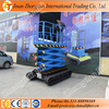 Full automaatic one man lift platfom self-propelled scissor lifter rubber track crawler scissor lift