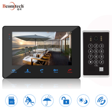 2 wired 7 inch wired keypad video door phone with id card function intercom