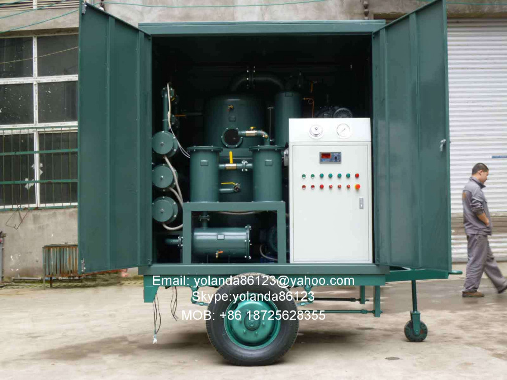 ZN Vacuum Mobile Oil Purifier for Dielectric Transformer Oil Dehydration, Oil Purification, Insulating Oil Processing