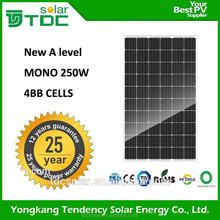 TOP PV supplier high efficiency 60cells mono solar modules 270 w price with TUV,CE,CEC certificate