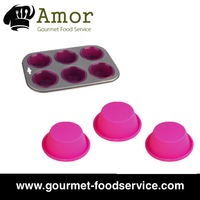 Pudding Muffin Cupcake Baking Food Tray Bakeware Silicone Mold