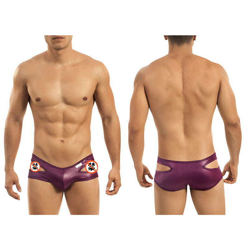 Custom open hole sides Hot sexy shape men underwear boxer briefs