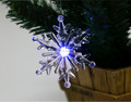 led 7colors light plastic acrylic Christmas snowflake ornament