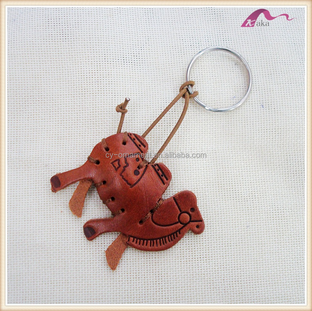 Handmade Leather Camel Keychain Accessories For Bags