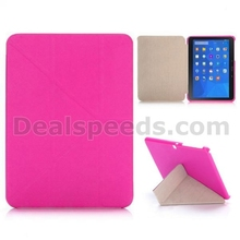 Cross Texture Tri-foldable Flip Stand Leather Case for Samsung Galaxy Tab 4 10.1 T530 T531 T535