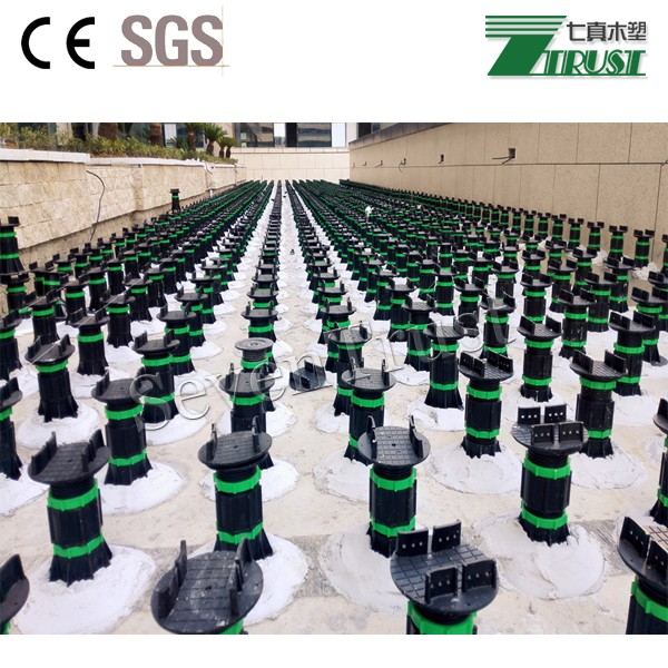 Adjustable plastic paver pedestal for decking and paver tiles 40mm-1200mm