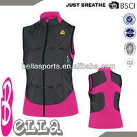 ladies' sleeveless jacket high quality vest with multi-color