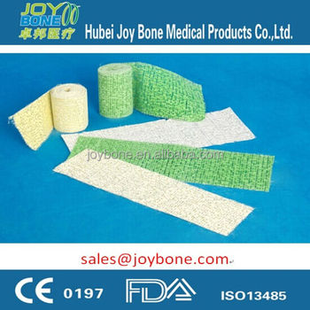 Colored Craft Plaster of Paris Bandage, POP Bandage CE ISO13485 certificated, plaster cast bandage, gypsum bandage