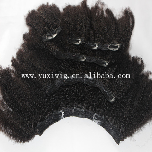 Afro Kinky Curly Clip In Hair Extensions Top 6a Mongolian Kinky