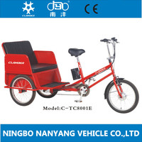 "TC8001E 20"" Electric pedicab for passenger/ fashionable Motorized rickshaw"