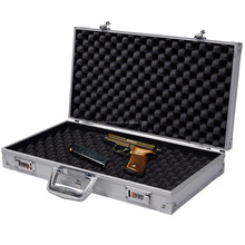 Hot Sale Aluminum Framed Locking Gun Pistol Case Handgun Combination Lock Box Aluminum Hard Storage Carry Case