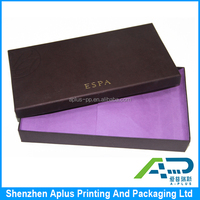 Customized pantone color printing essential oils packaging paper box with lid