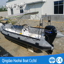 22.3ft 6.8m fiberglass double hull inflatable rib speed boat