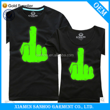 Fashional Party Couple Glow In The Dark T-Shirt