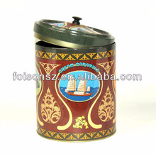 High quality cake tin can with lockable lids from factory in SZ city by food grade metal tins material for tea containers use