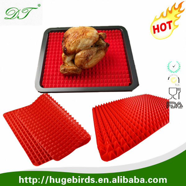 "16.5"" x11.6"" Cherry Red Silicone Non-stick Healthy Cooking Baking Mats"