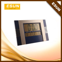Classical design Best selling jumbo large digital screen display alarm wall mounted clock desktop weather station clock