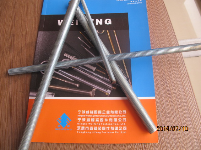 China facotry pipe clamps with thread rod zinc plated bulk packing