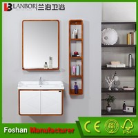 Wholesale oak bathroom wall cabinets with mirror and shelf set FS1420