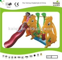Updated KAIQI kids sliding toys/plastic indoor slide toy/plastic swing and slide set