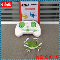 Toys helicopter 4CM Quad Copter CX-10 6 Axis gyro Mini Drone RC Quadcopter CX10