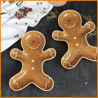 High quality 200+ ~ purchasing Sweden Sagaform Christmas fruit bowl fruit snacks Gingerbread Man plate plate