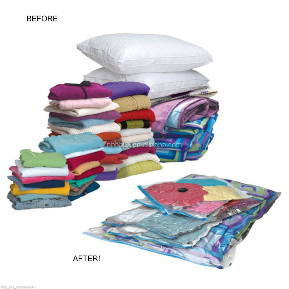 PA+PE Plastic Storage Vacuum Seal Bags For Pillows Saving 3 Times More Space