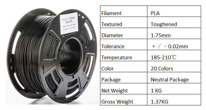3d printing materials 1.75mm PLA filament for 3D printer