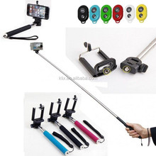 2014 Christmas Necessary Selfie Stick Monopod And Bluetooth Shutter Mobile Phone Monopod For iPhone/Samsung/HTC Phone