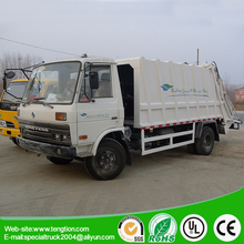 Medium 9 tons white compresses the wave garbage truck of Rubbish Removal & Collection & recycling