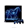 Blue crystal house decal vinyl sticker cover for ps4 controller