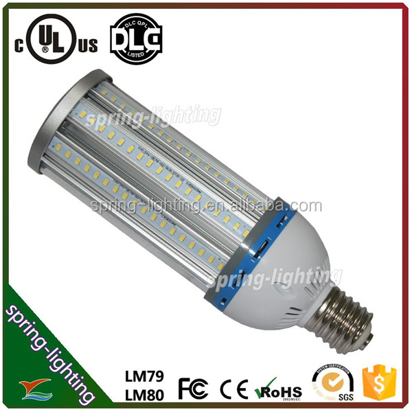 UL CUL listed 80w 100w 120w LED corn light used to retrofit HPS/MH/HID/CFL lamps in street area and high bay